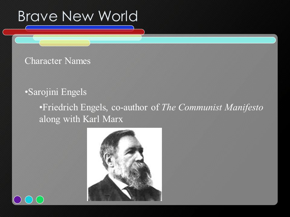 Brave New World Character Names Sarojini Engels