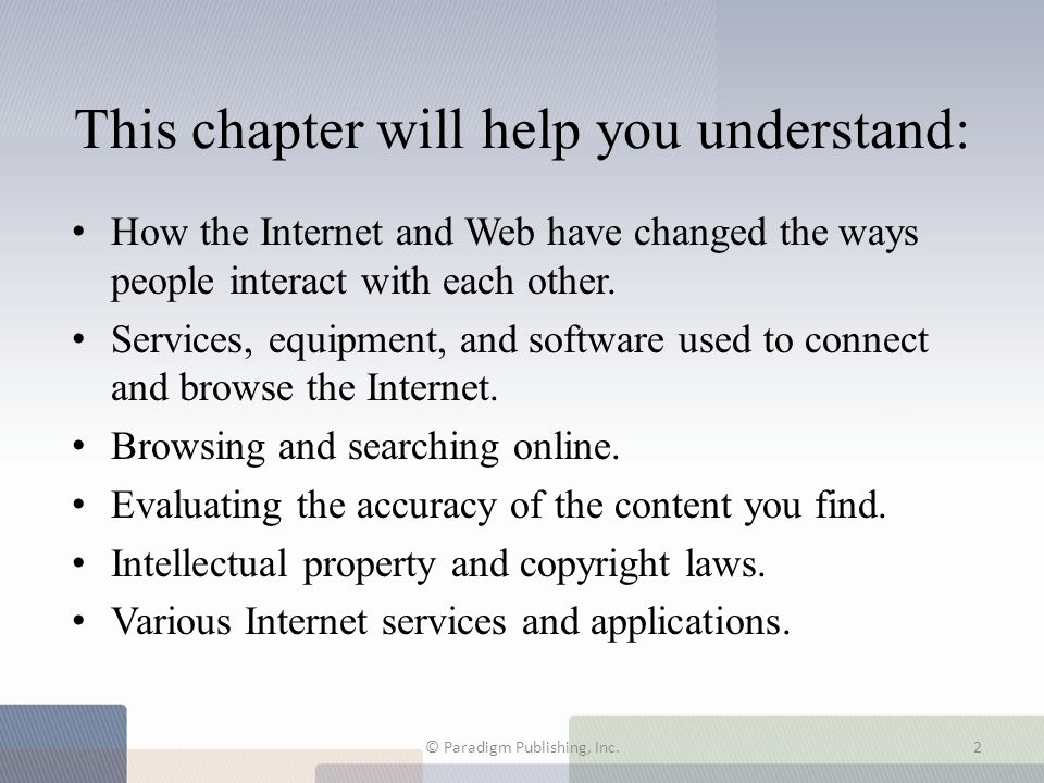 This chapter will help you understand: