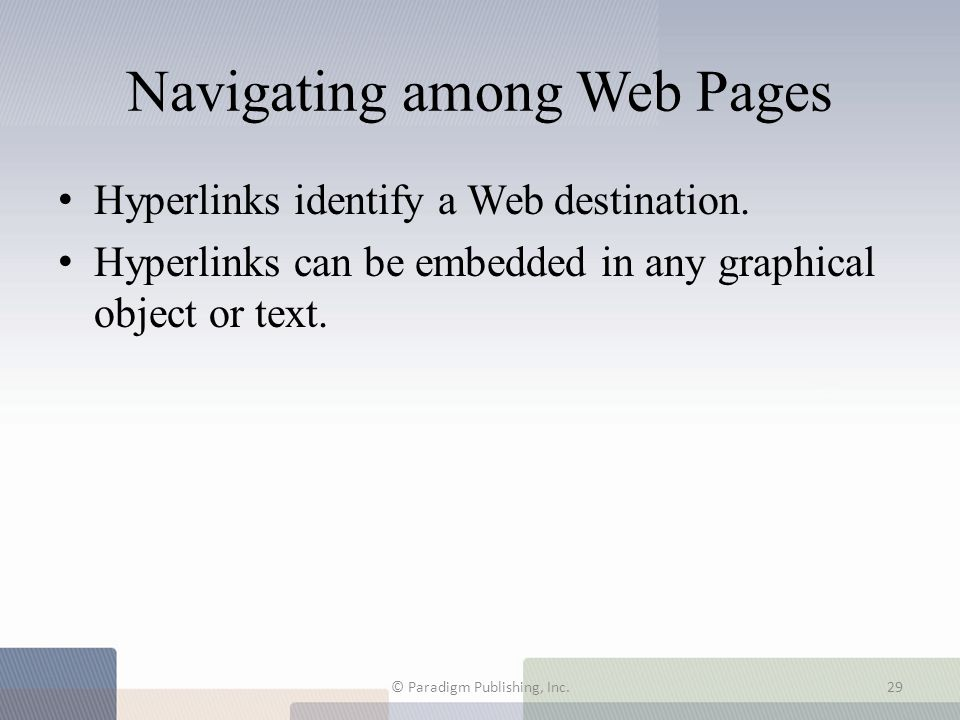 Navigating among Web Pages