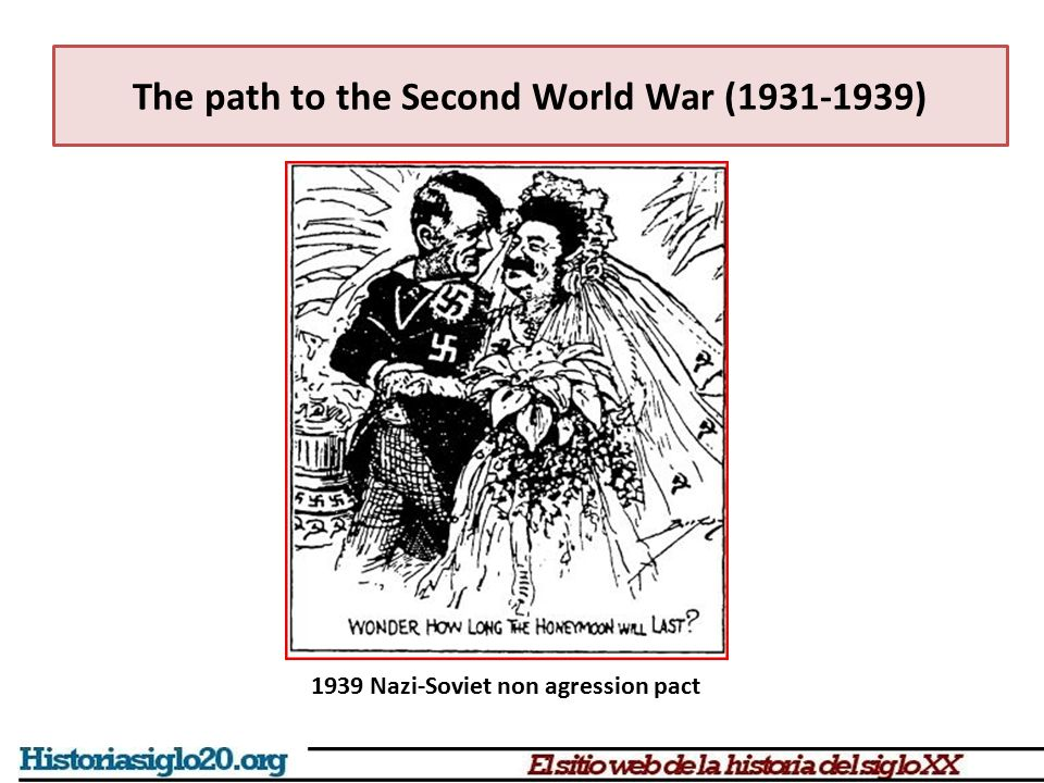 The path to the Second World War (1931-1939)