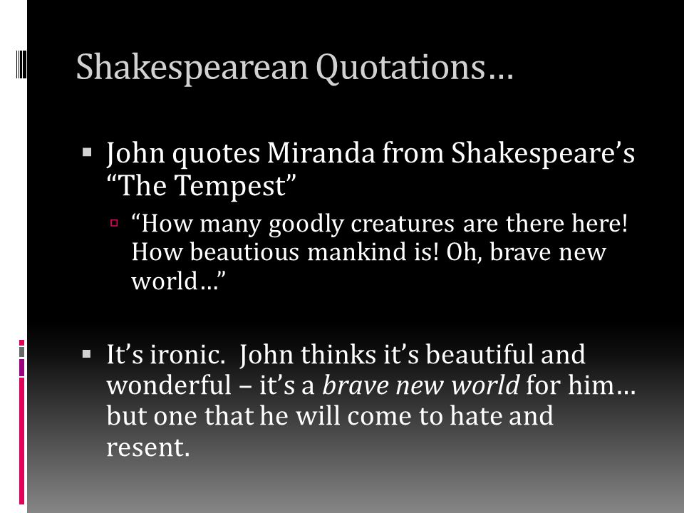 Shakespearean Quotations…