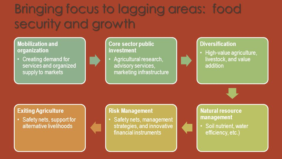 Bringing focus to lagging areas: food security and growth
