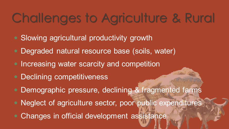 Challenges to Agriculture & Rural