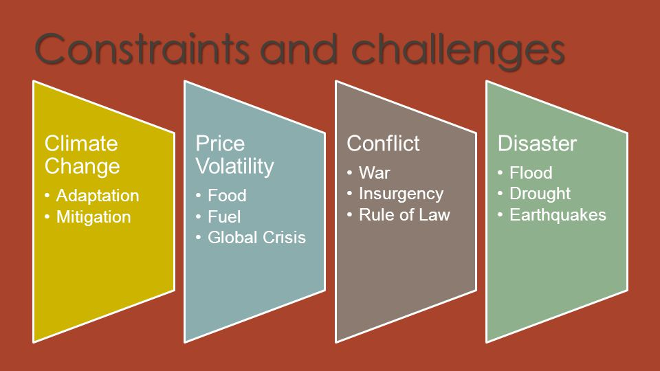 Constraints and challenges