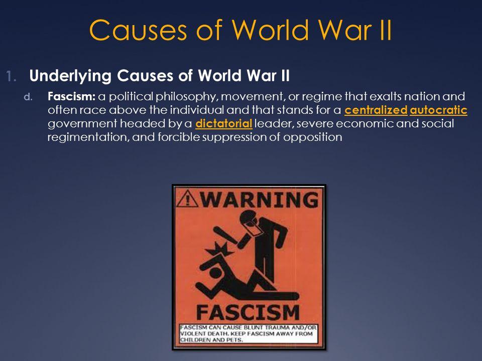 Causes of World War II Underlying Causes of World War II