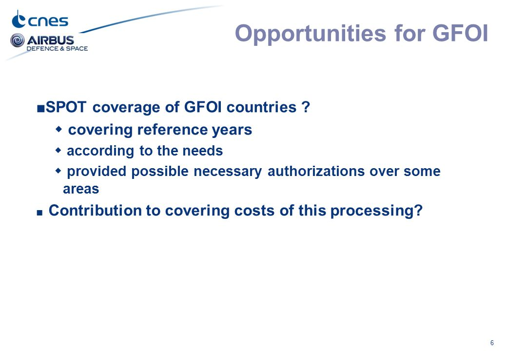 Opportunities for GFOI