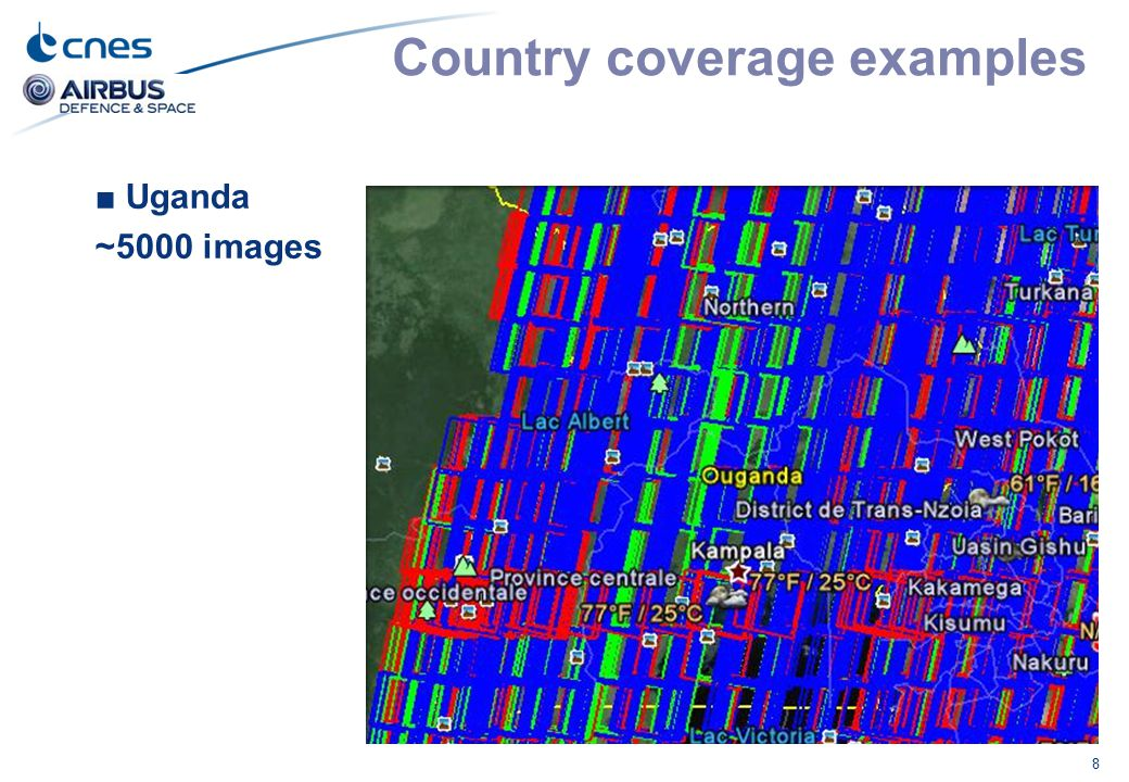 Country coverage examples