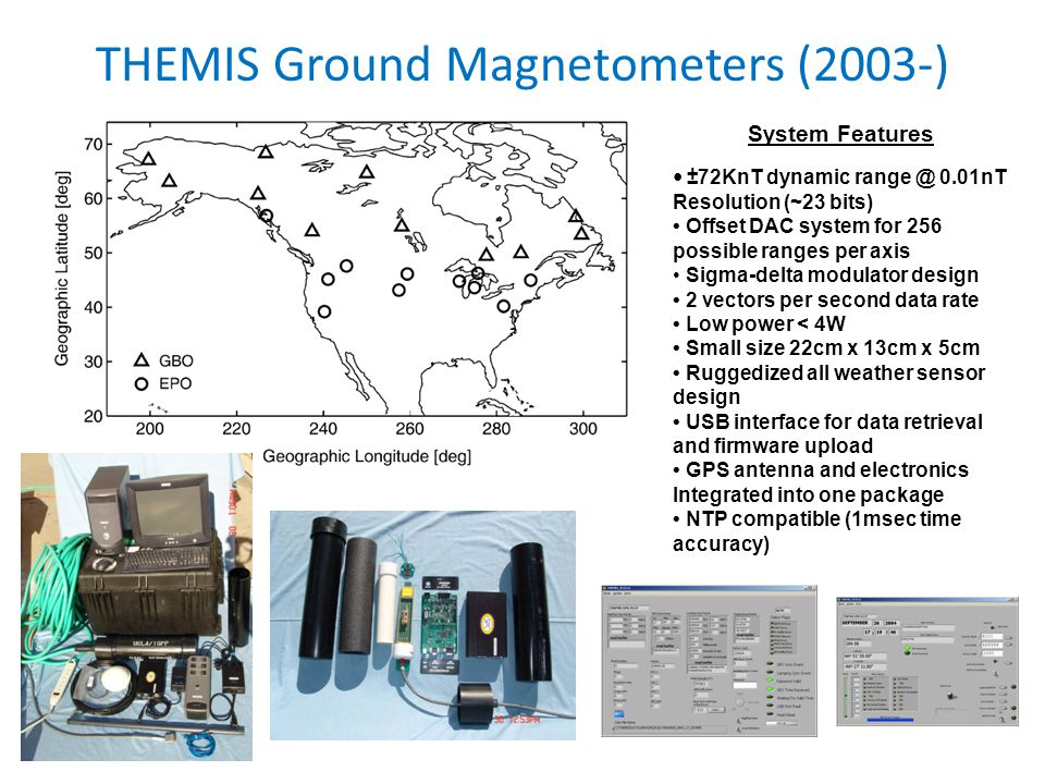 THEMIS Ground Magnetometers (2003-)