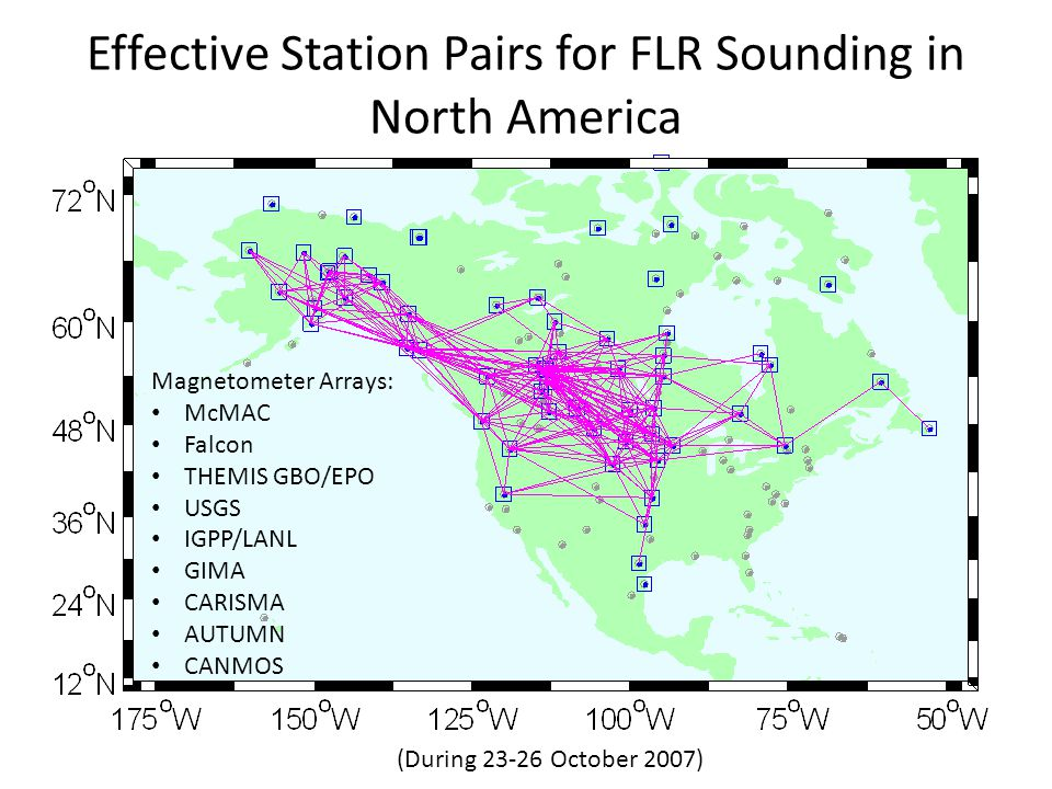 Effective Station Pairs for FLR Sounding in North America