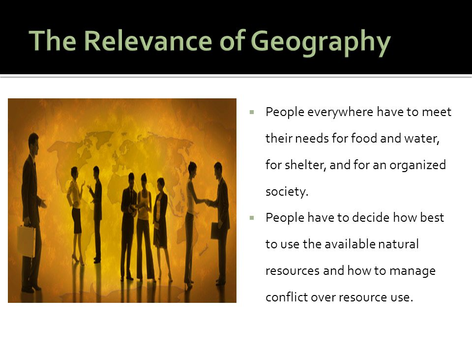 The Relevance of Geography