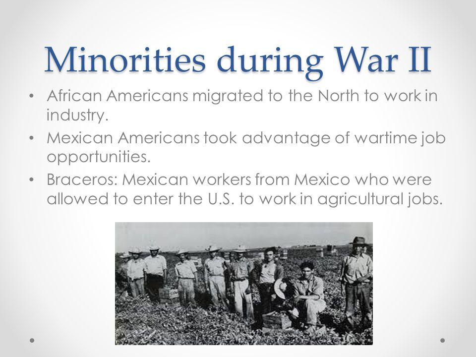 Minorities during War II