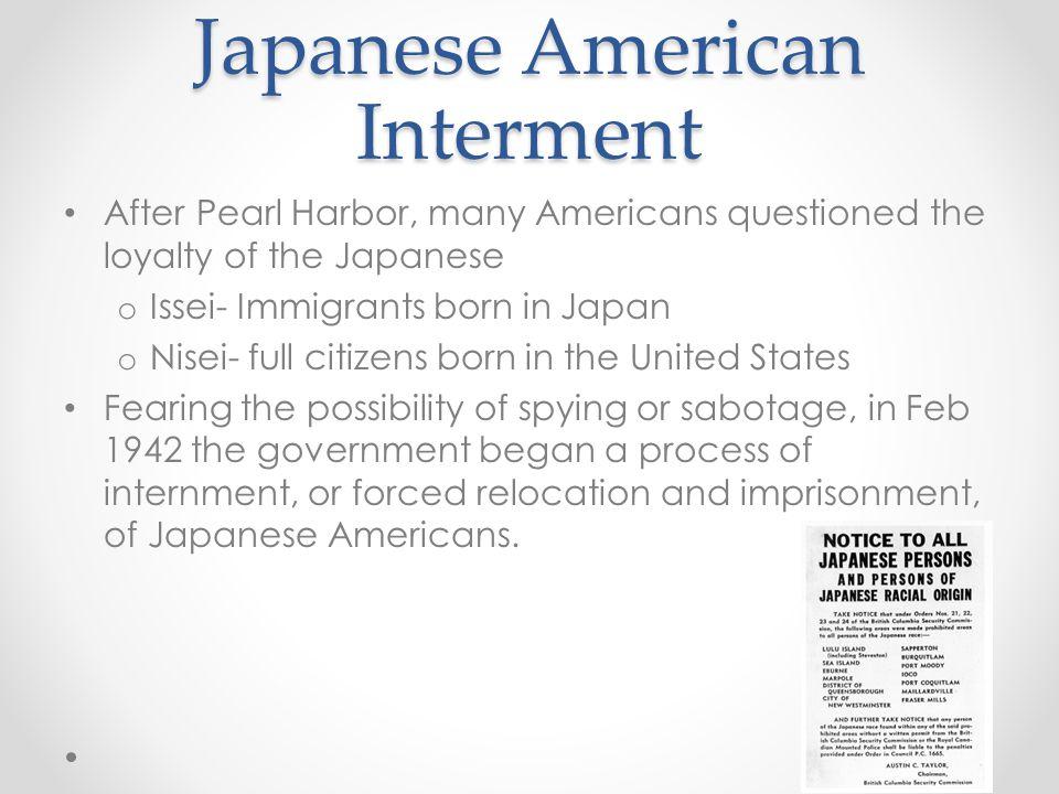 Japanese American Interment