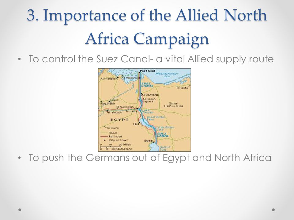 3. Importance of the Allied North Africa Campaign