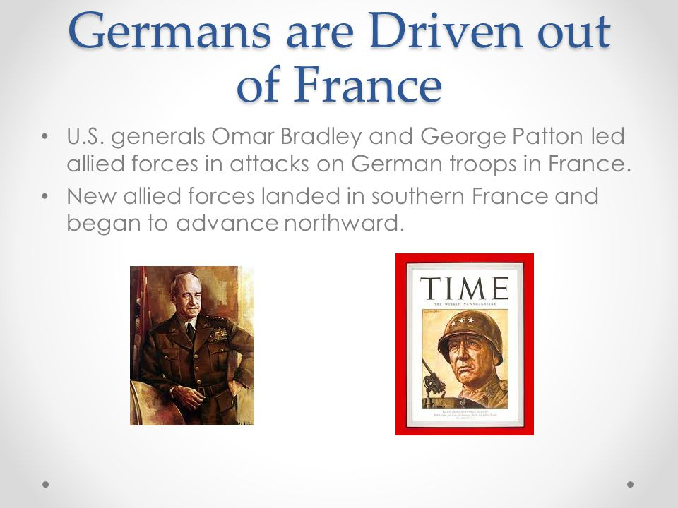 Germans are Driven out of France