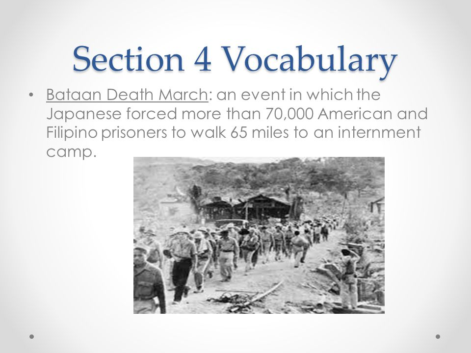 Section 4 Vocabulary