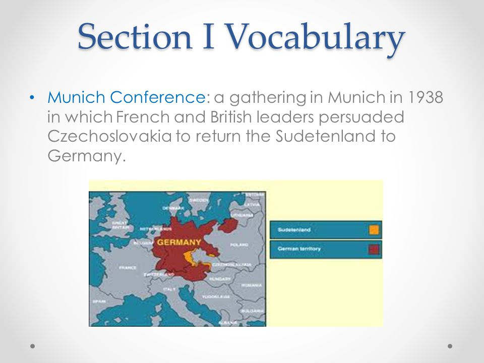 Section I Vocabulary