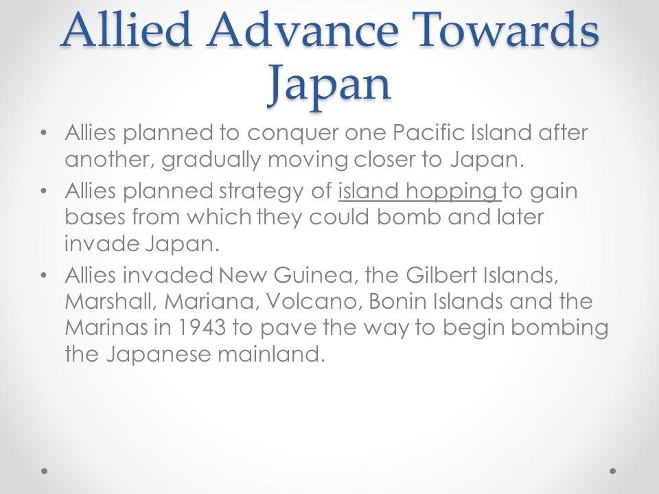 Allied Advance Towards Japan