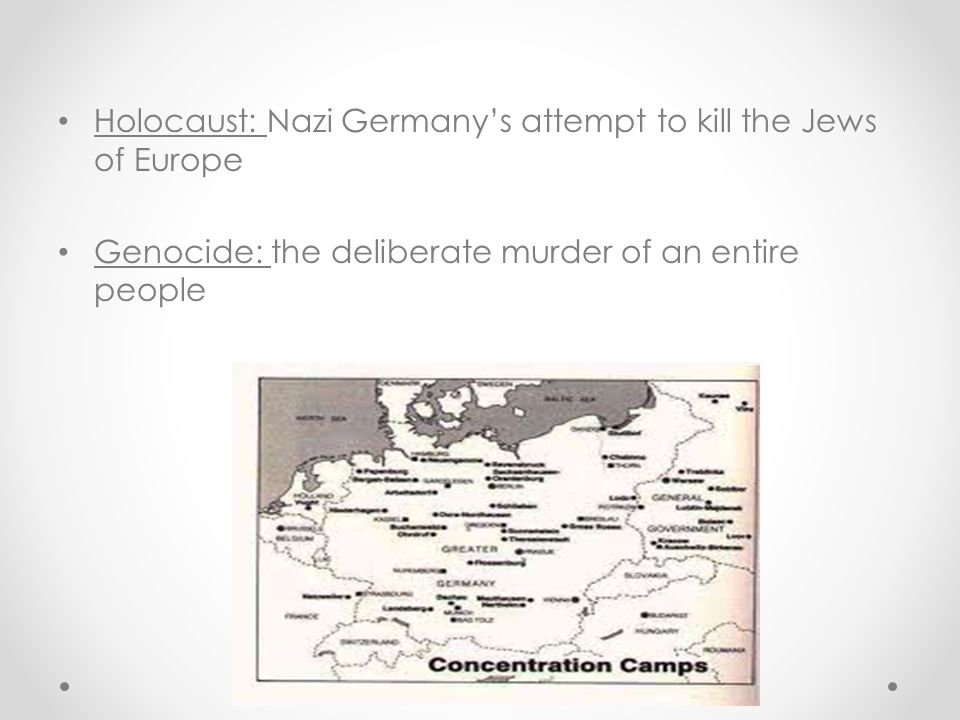 Holocaust: Nazi Germany's attempt to kill the Jews of Europe
