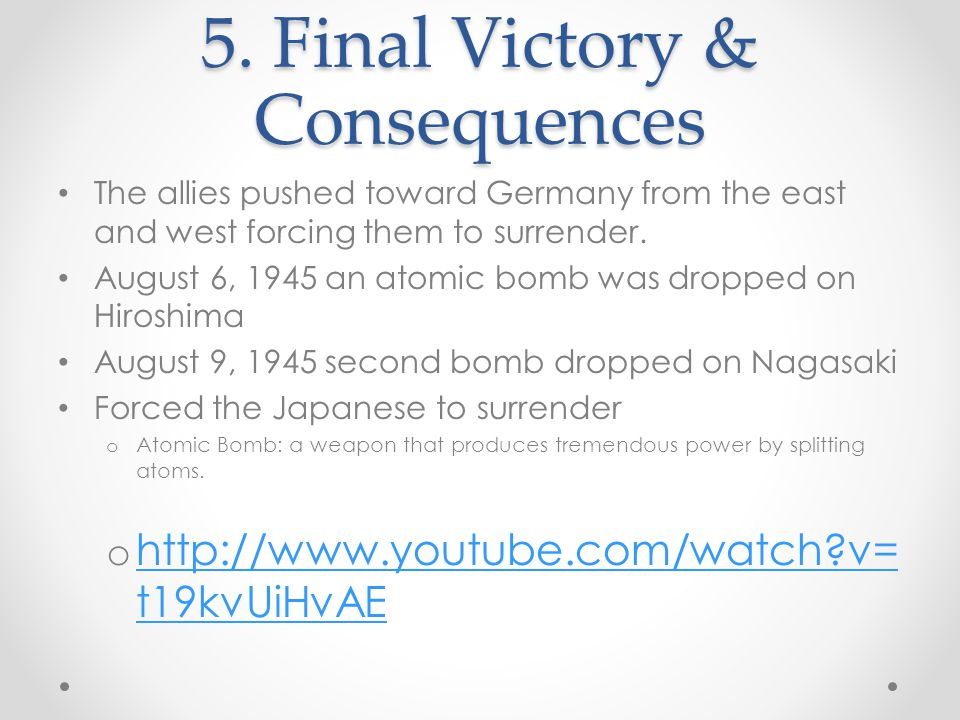 5. Final Victory & Consequences