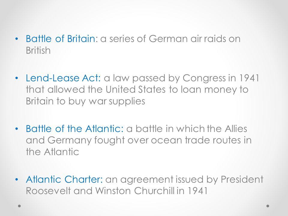 Battle of Britain: a series of German air raids on British