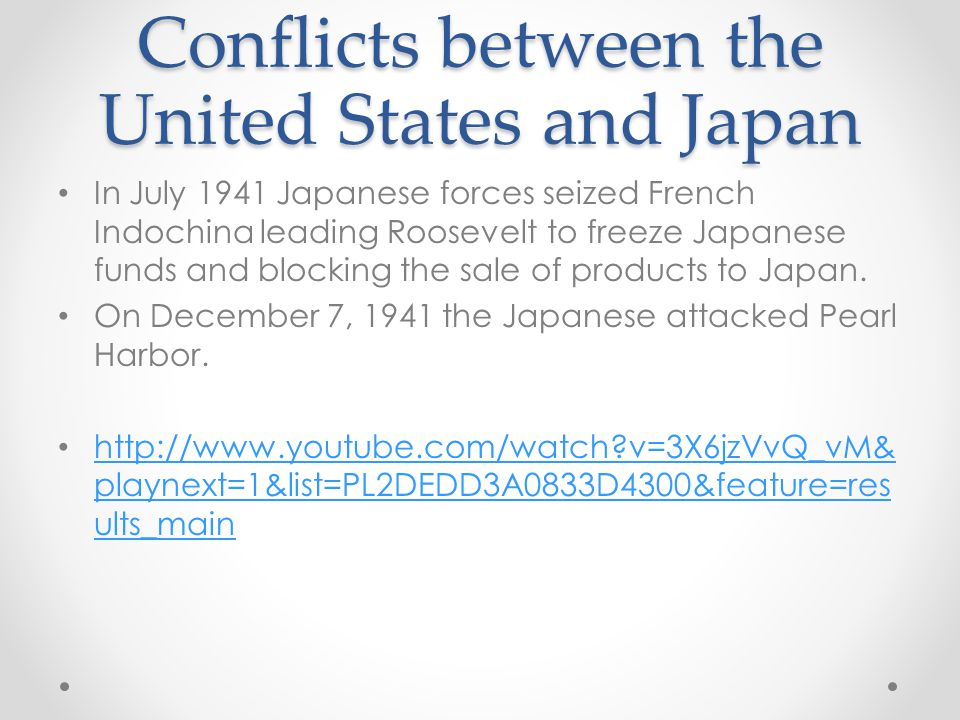 Conflicts between the United States and Japan
