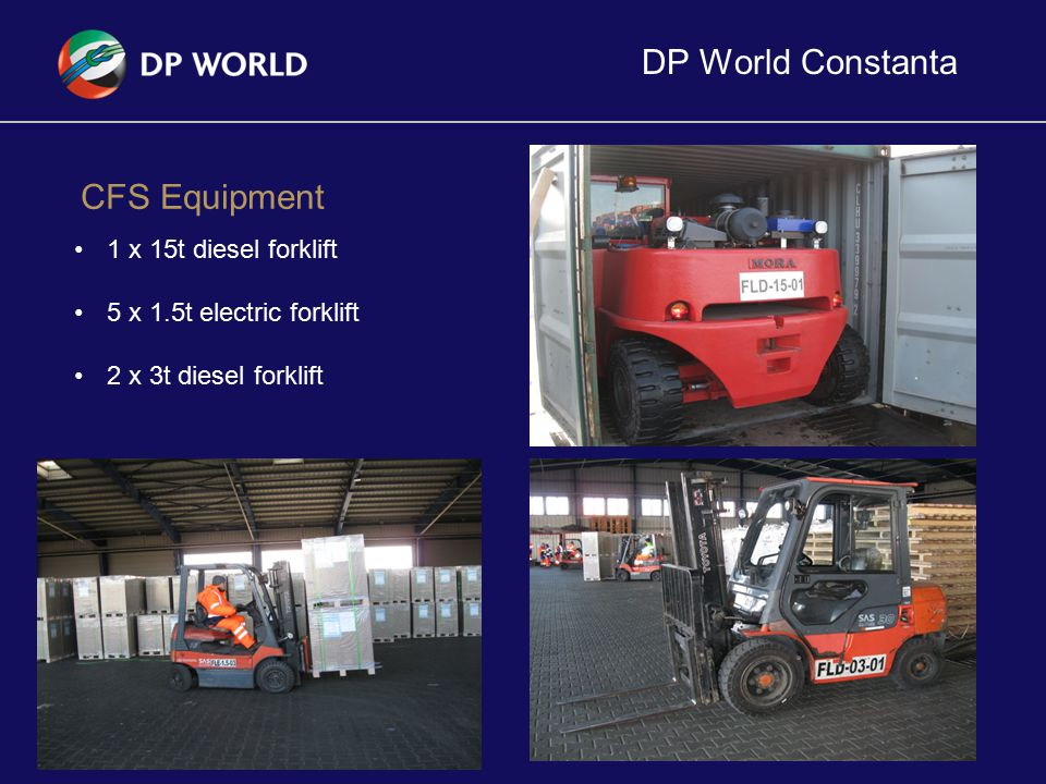 DP World Constanta CFS Equipment 1 x 15t diesel forklift