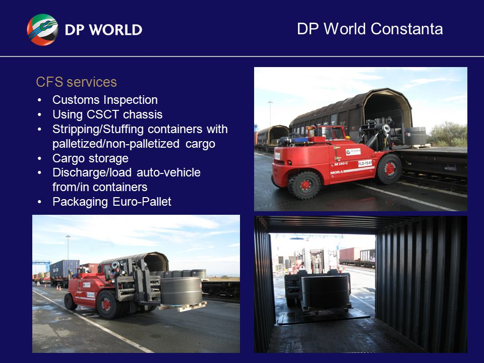 DP World Constanta CFS services Customs Inspection Using CSCT chassis