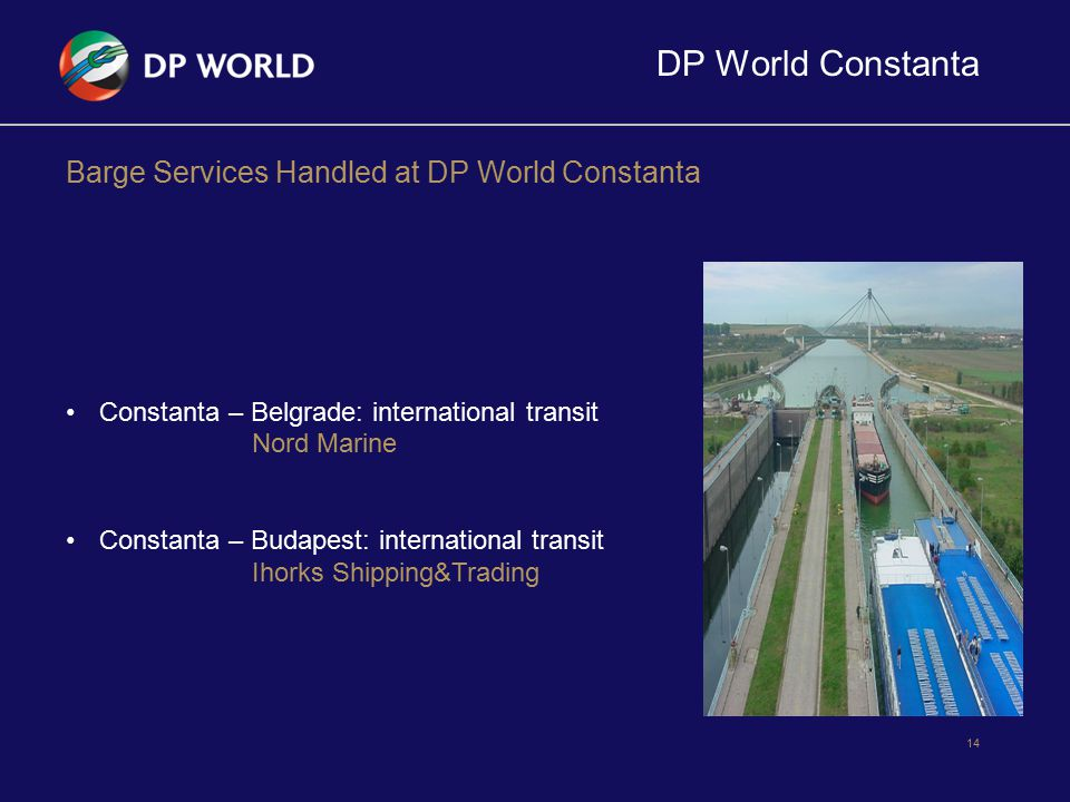 DP World Constanta Barge Services Handled at DP World Constanta