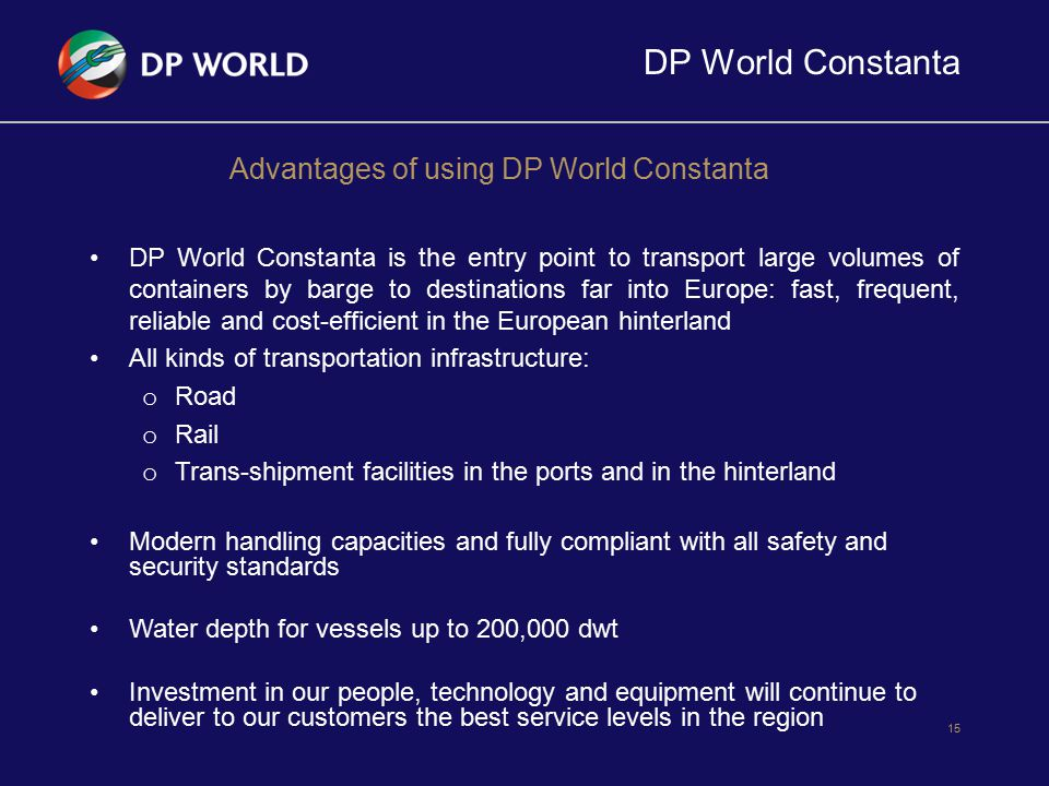 Advantages of using DP World Constanta