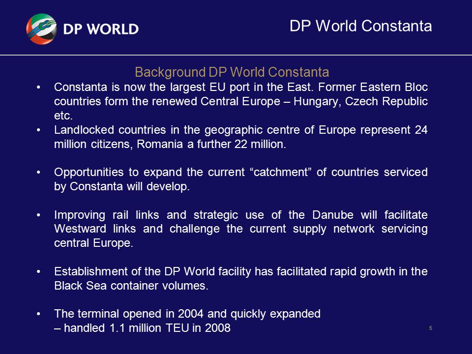 Background DP World Constanta