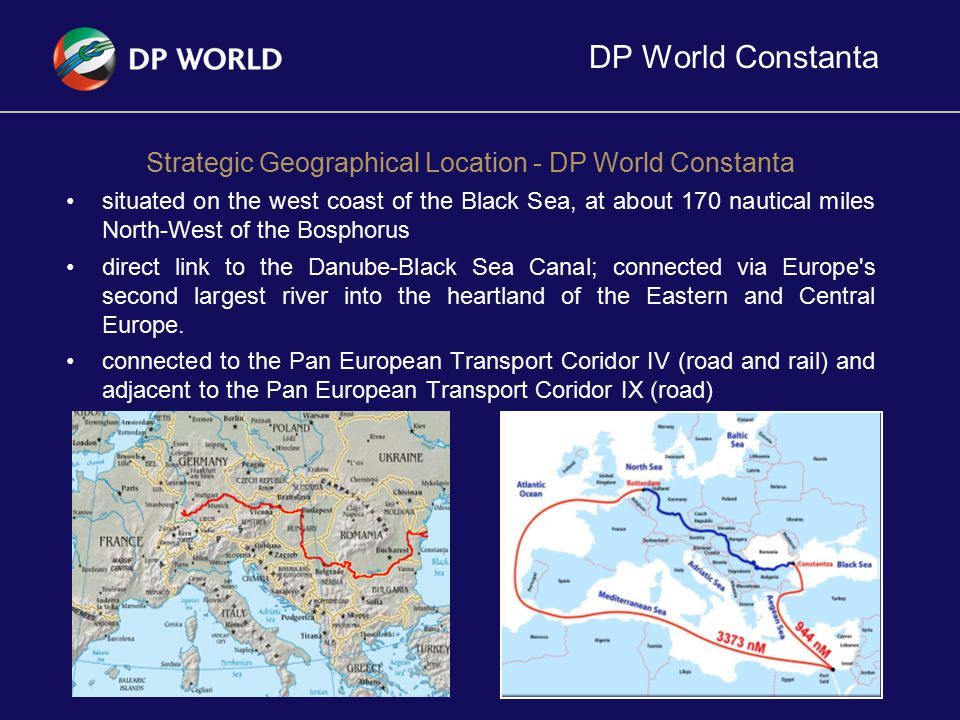 Strategic Geographical Location - DP World Constanta