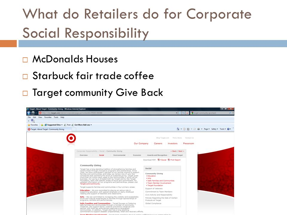 What do Retailers do for Corporate Social Responsibility