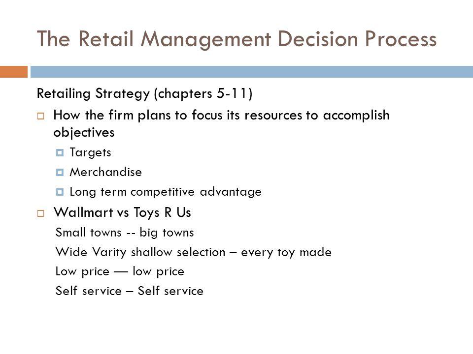 The Retail Management Decision Process
