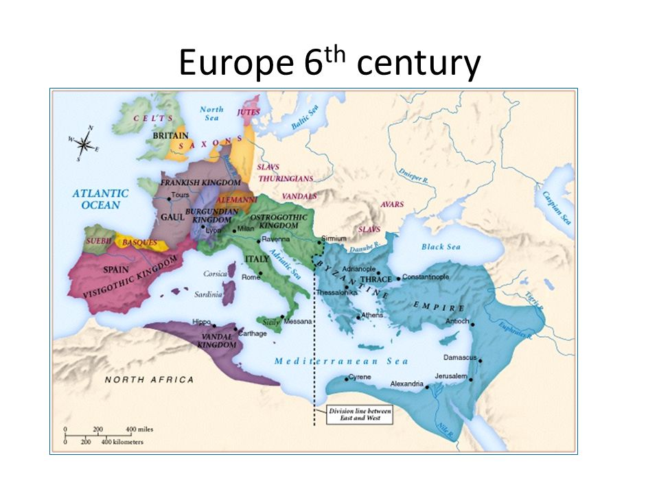 Europe 6th century