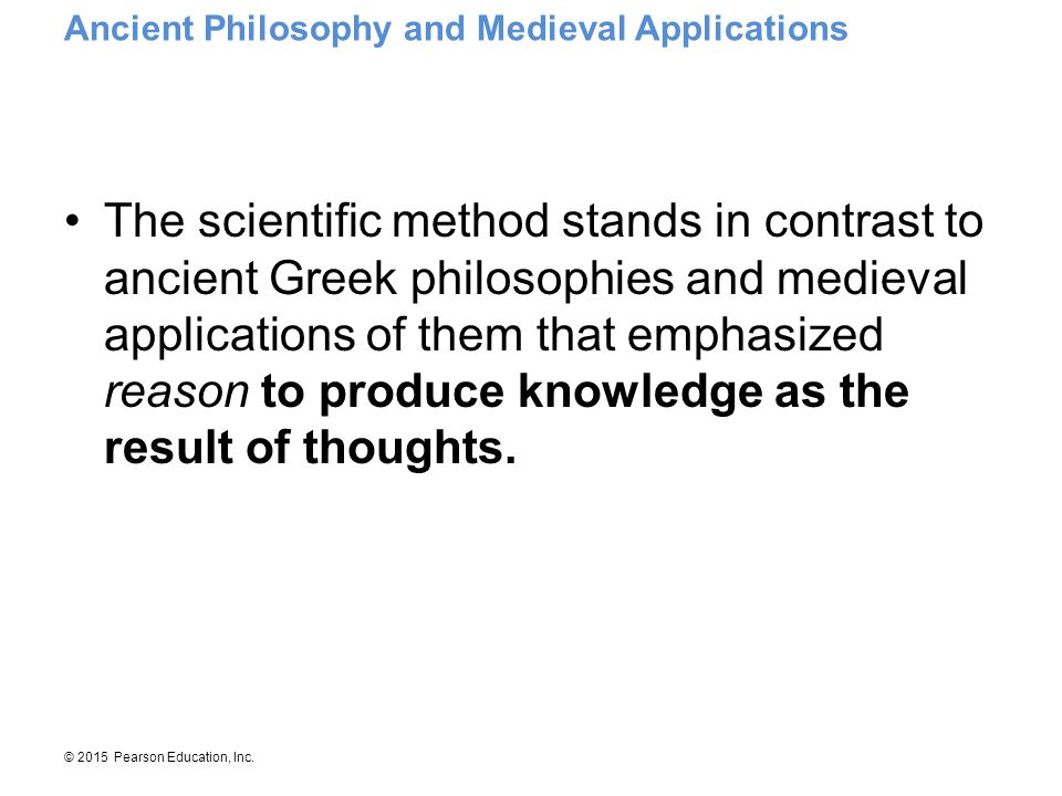 Ancient Philosophy and Medieval Applications