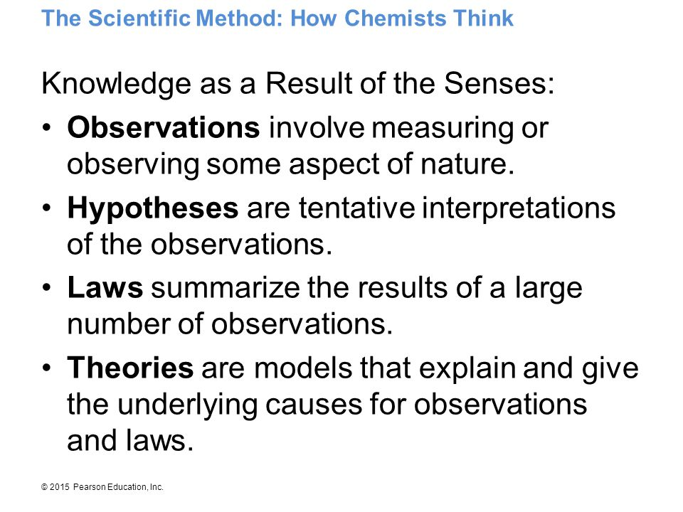 Knowledge as a Result of the Senses: