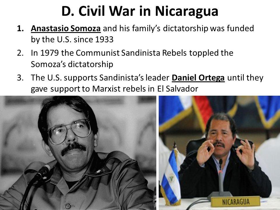 D. Civil War in Nicaragua