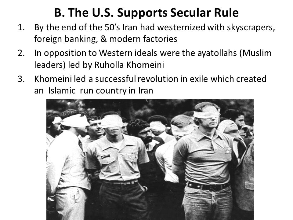 B. The U.S. Supports Secular Rule