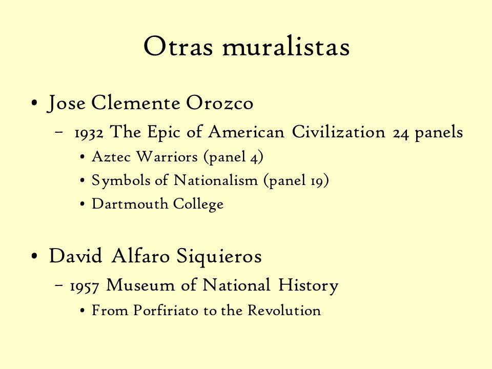 Otras muralistas Jose Clemente Orozco David Alfaro Siquieros