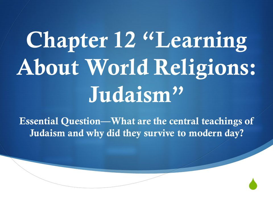 Chapter 12 Learning About World Religions: Judaism