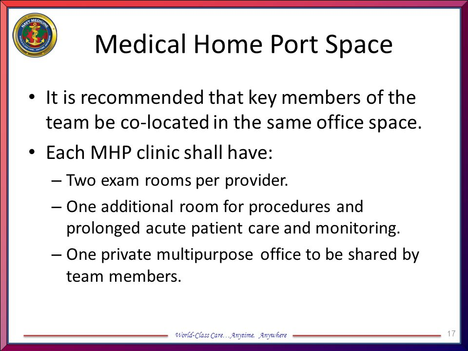 Medical Home Port Space