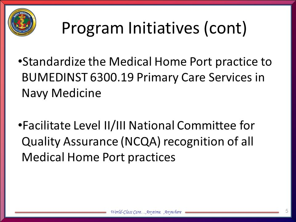 Program Initiatives (cont)