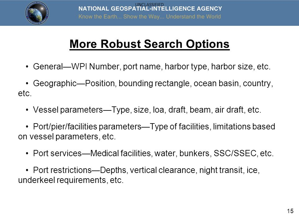 More Robust Search Options