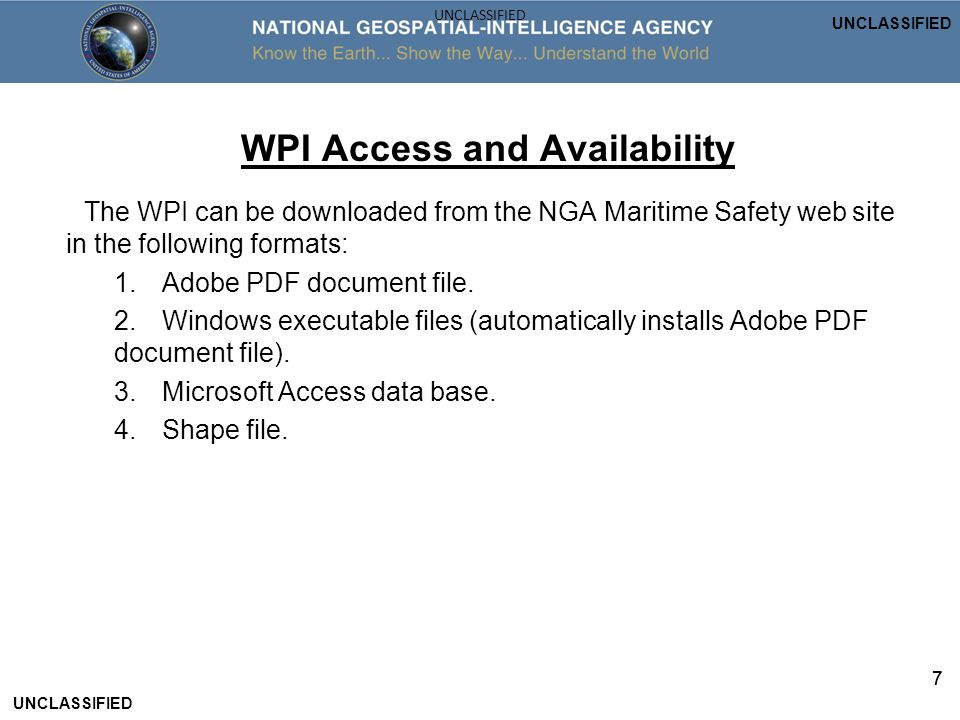 WPI Access and Availability