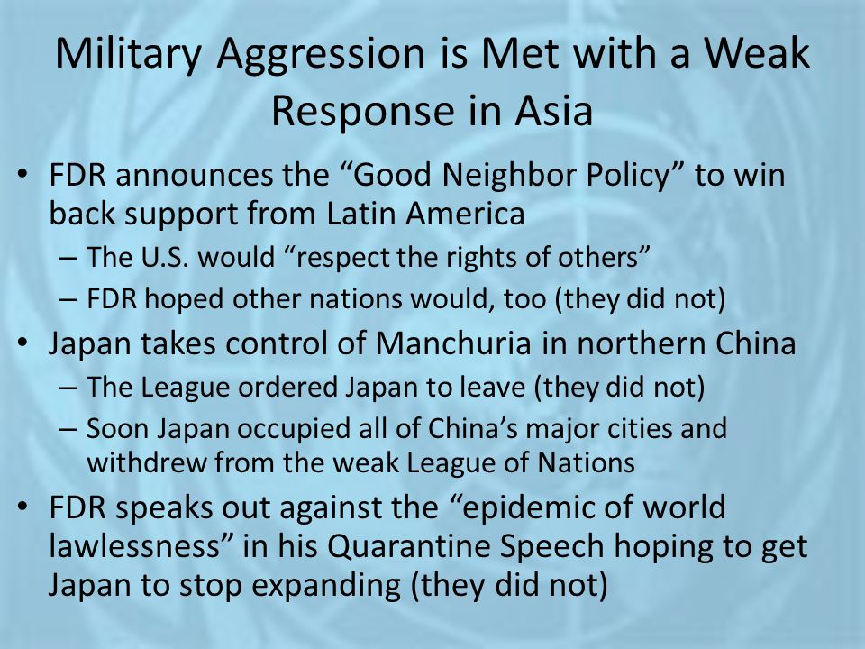Military Aggression is Met with a Weak Response in Asia