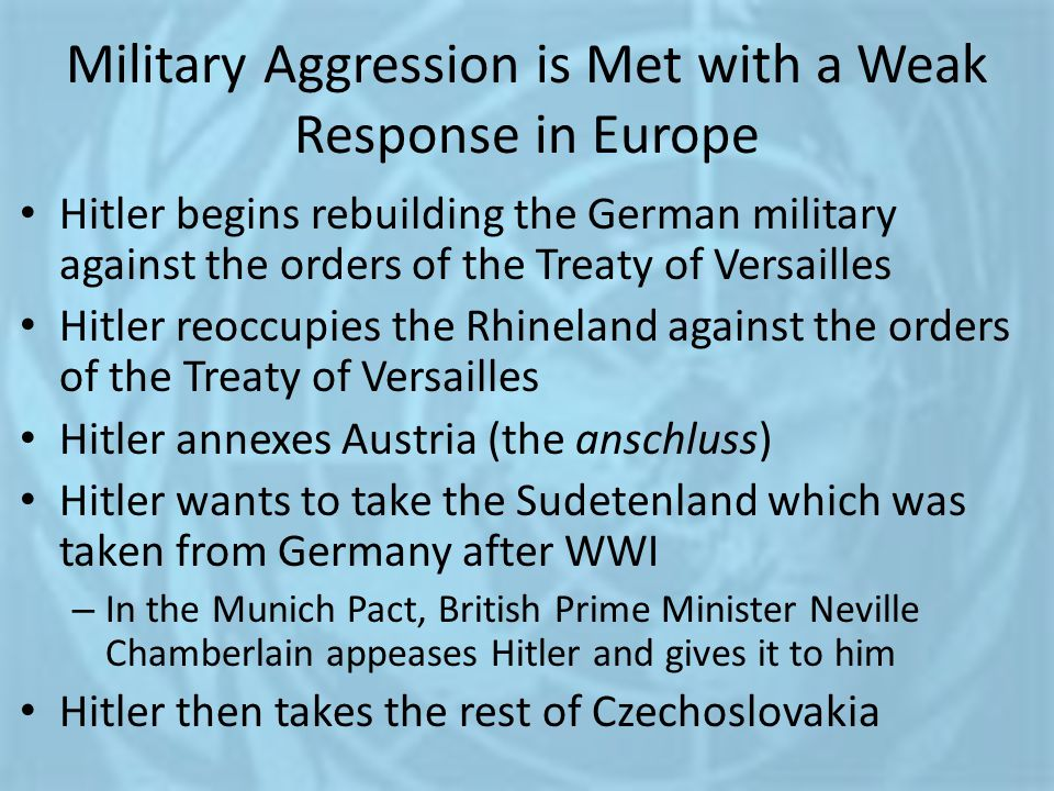 Military Aggression is Met with a Weak Response in Europe