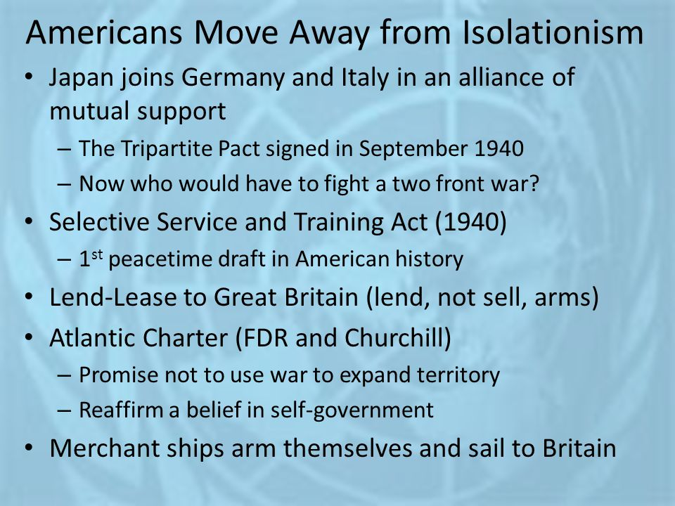 Americans Move Away from Isolationism