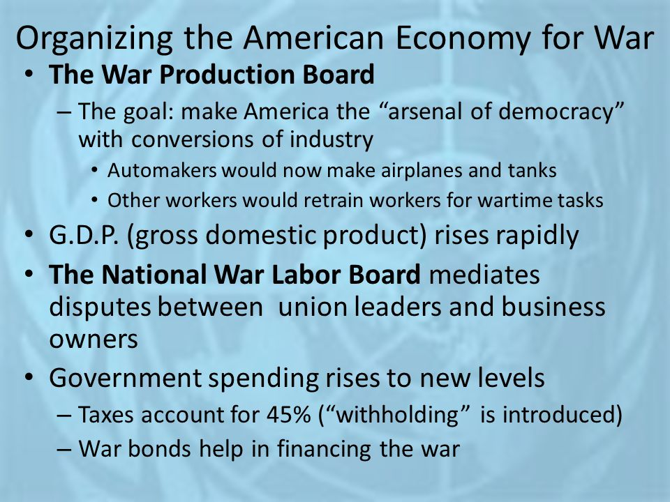 Organizing the American Economy for War