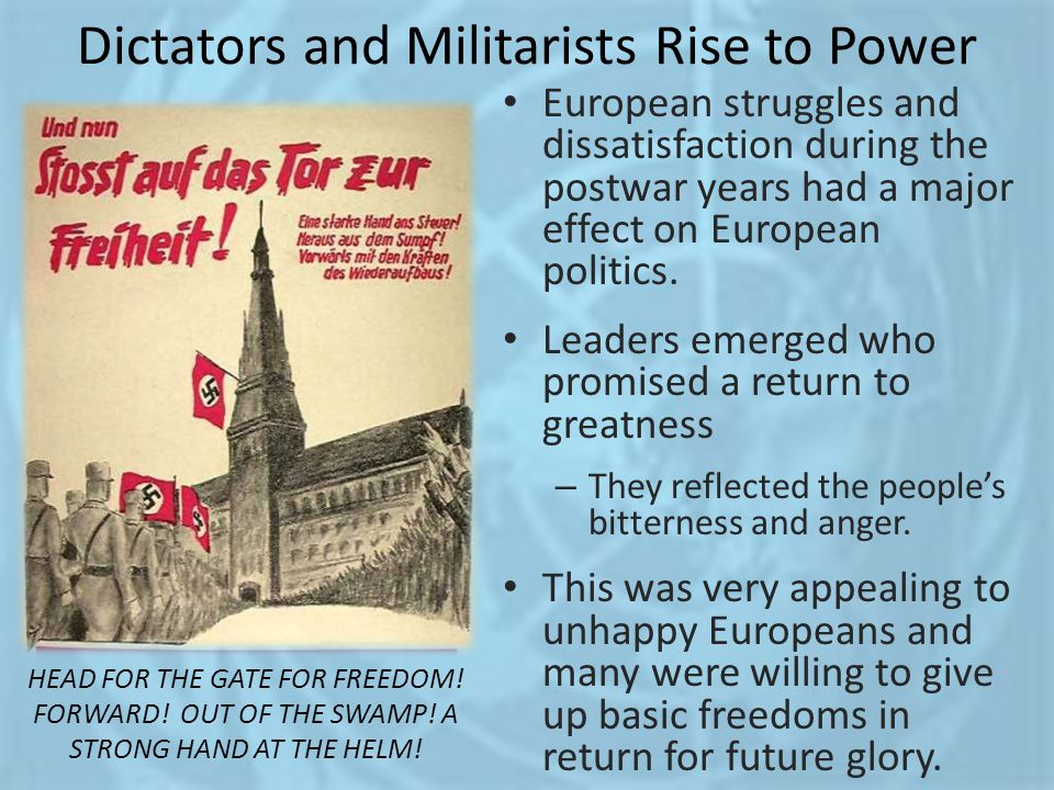 Dictators and Militarists Rise to Power