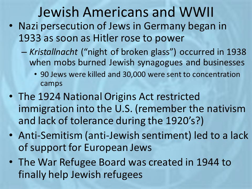 Jewish Americans and WWII